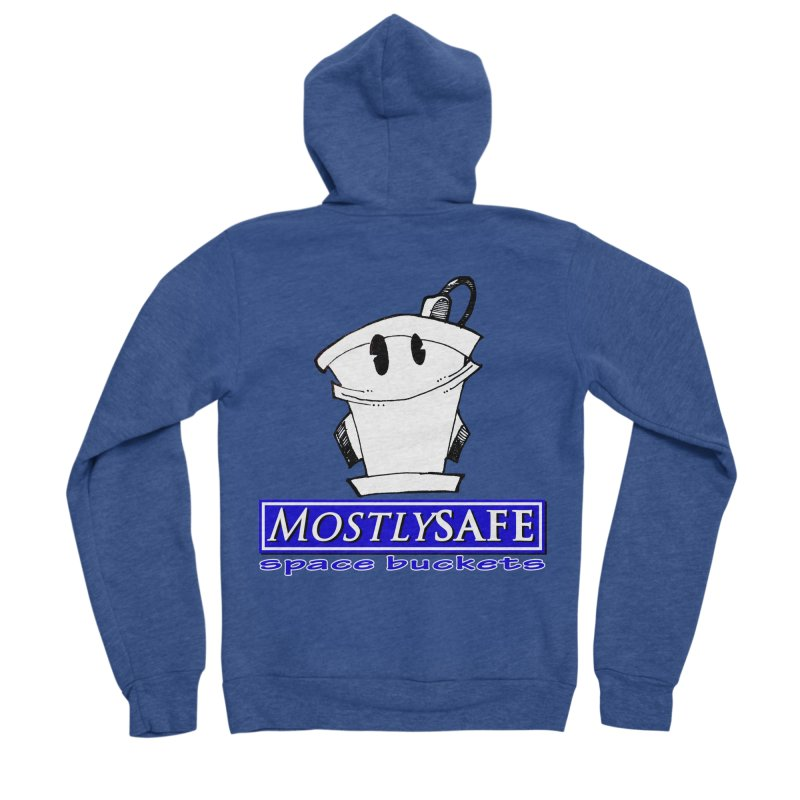 MostlySAFE Space Buckets Men's Sponge Fleece Zip-Up Hoody by MostlySAFE Webcomic Shwag
