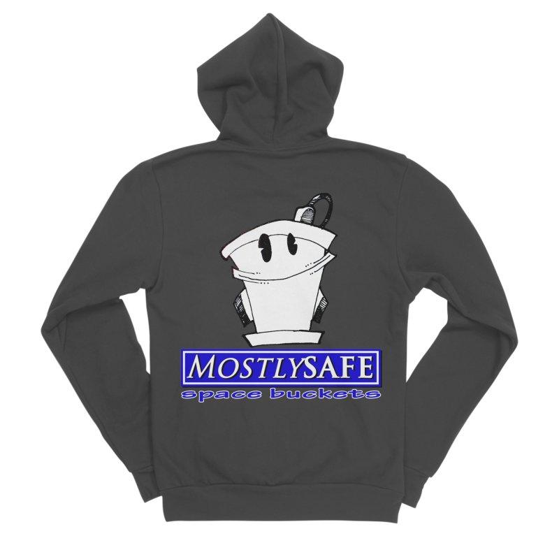 MostlySAFE Space Buckets Men's Sponge Fleece Zip-Up Hoody by MostlySAFE Webcomic Shwag