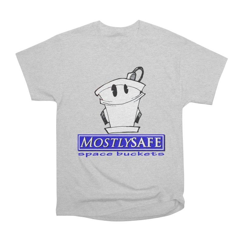 MostlySAFE Space Buckets Men's Heavyweight T-Shirt by MostlySAFE Webcomic Shwag