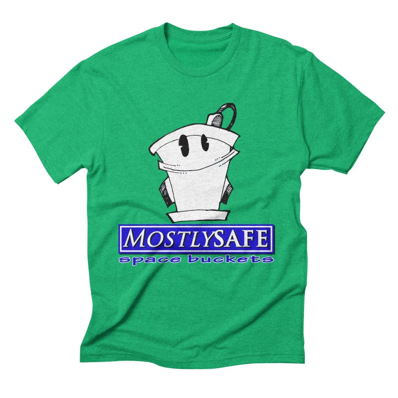 MostlySAFE Space Buckets Men's Triblend T-Shirt by MostlySAFE Webcomic Shwag