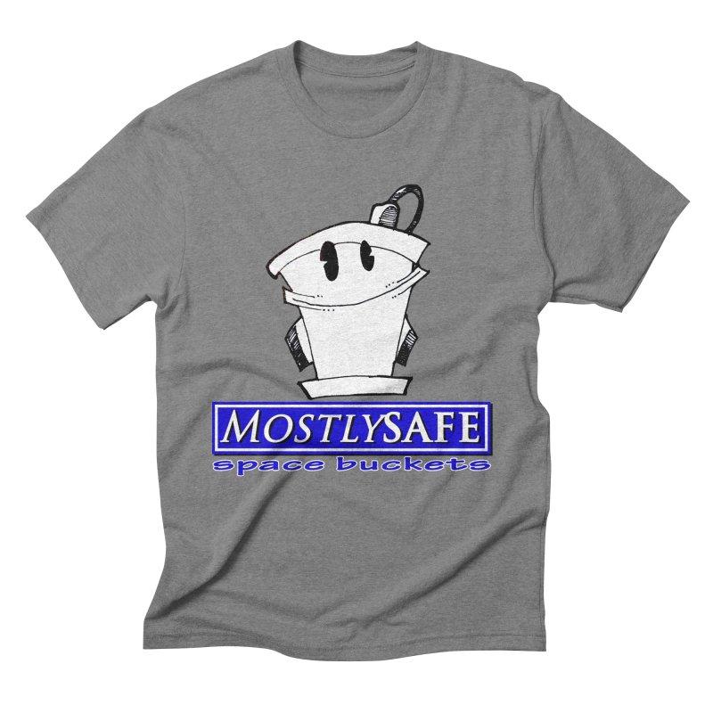 MostlySAFE Space Buckets Men's Triblend T-Shirt by MostlySAFE Webcomic Shwag