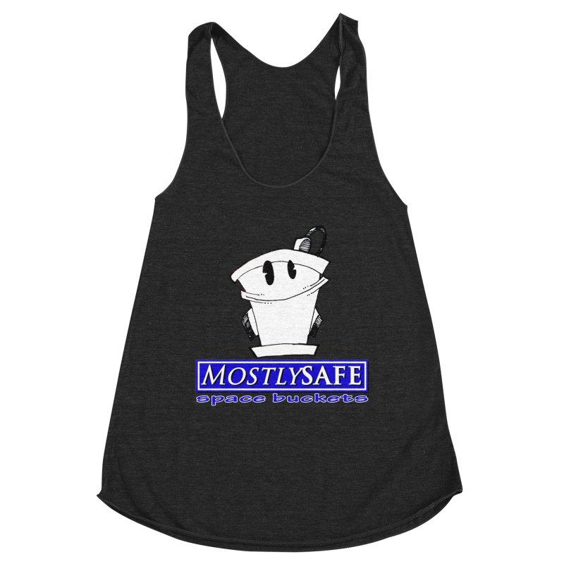MostlySAFE Space Buckets Women's Racerback Triblend Tank by MostlySAFE Webcomic Shwag