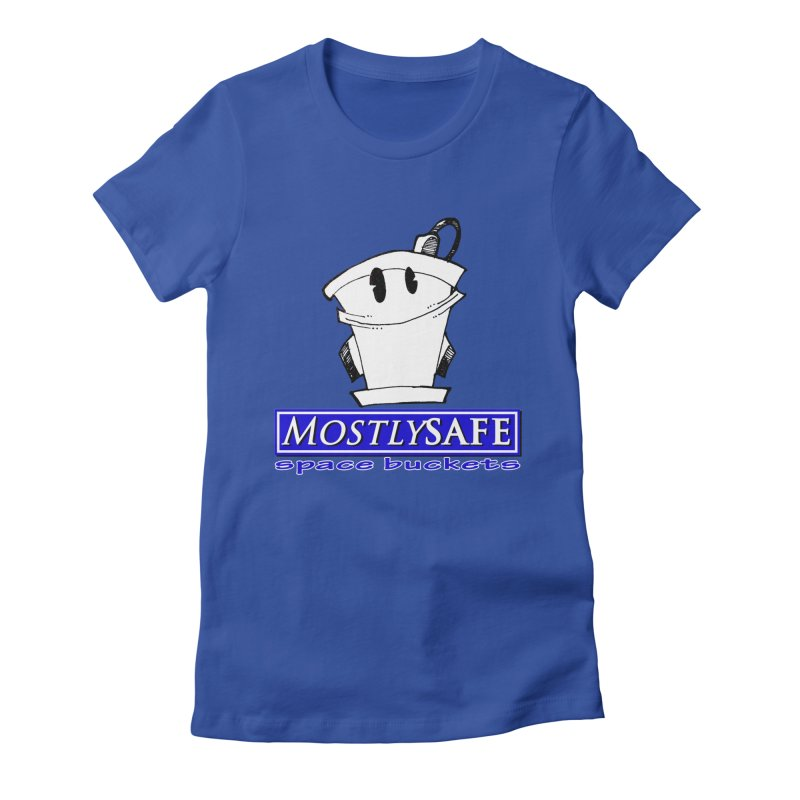 MostlySAFE Space Buckets Women's Fitted T-Shirt by MostlySAFE Webcomic Shwag