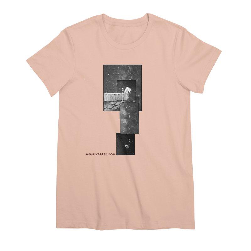 Flat Earth Cat Women's Premium T-Shirt by MostlySAFE Webcomic Shwag