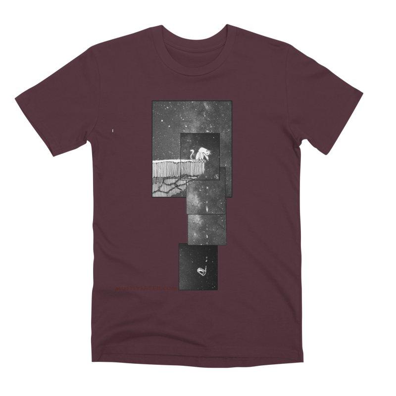 Flat Earth Cat Men's Premium T-Shirt by MostlySAFE Webcomic Shwag