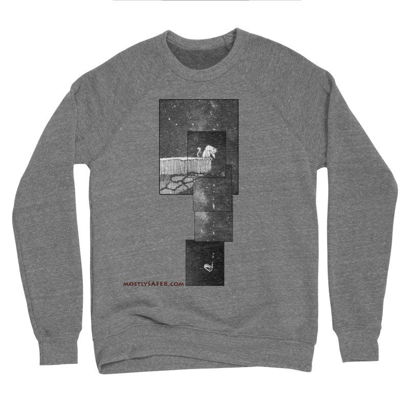 Flat Earth Cat Men's Sponge Fleece Sweatshirt by MostlySAFE Webcomic Shwag