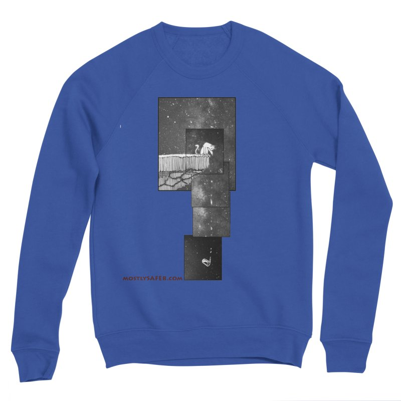 Flat Earth Cat Men's Sweatshirt by MostlySAFE Webcomic Shwag