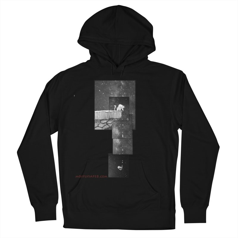 Flat Earth Cat Men's French Terry Pullover Hoody by MostlySAFE Webcomic Shwag