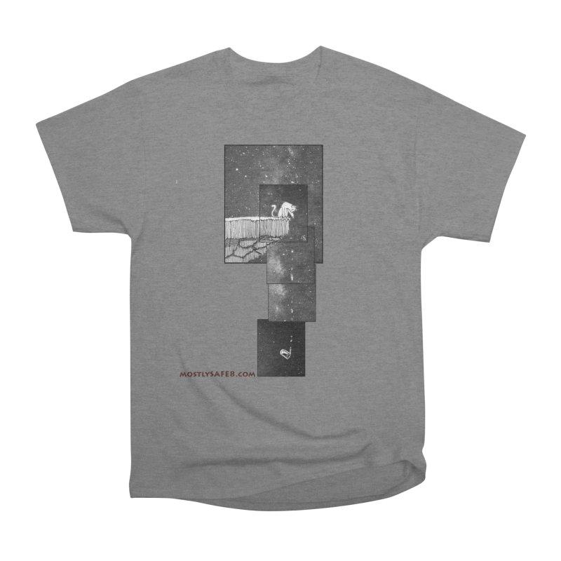 Flat Earth Cat Women's Heavyweight Unisex T-Shirt by MostlySAFE Webcomic Shwag