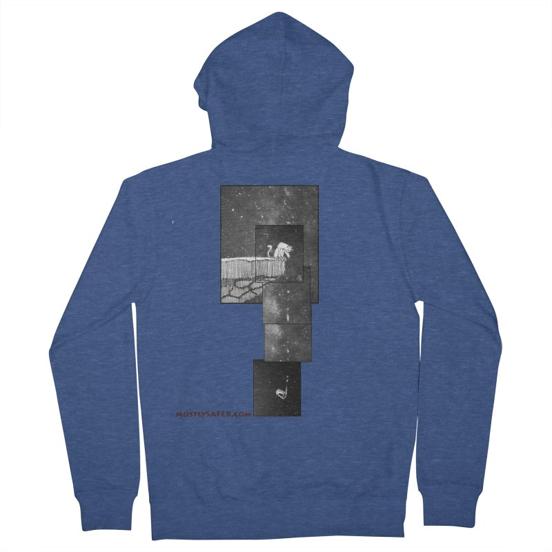 Flat Earth Cat Women's French Terry Zip-Up Hoody by MostlySAFE Webcomic Shwag