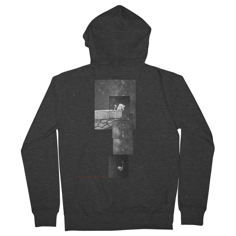 Flat Earth Cat Men's French Terry Zip-Up Hoody by MostlySAFE Webcomic Shwag