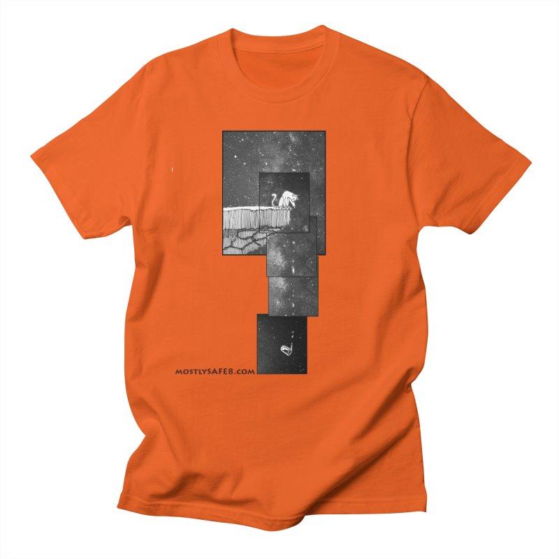 Flat Earth Cat Men's Regular T-Shirt by MostlySAFE Webcomic Shwag