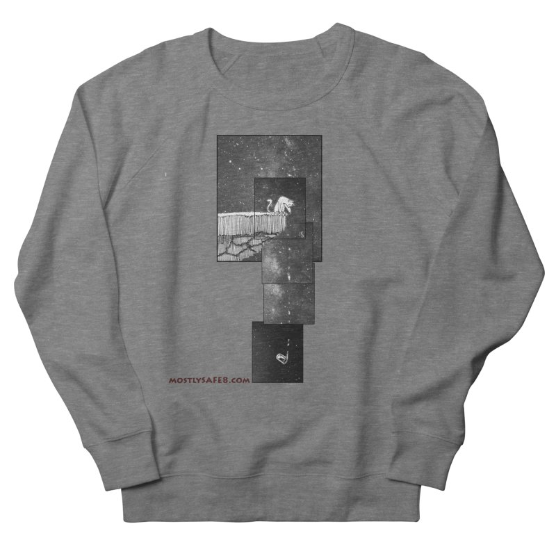 Flat Earth Cat Men's French Terry Sweatshirt by MostlySAFE Webcomic Shwag