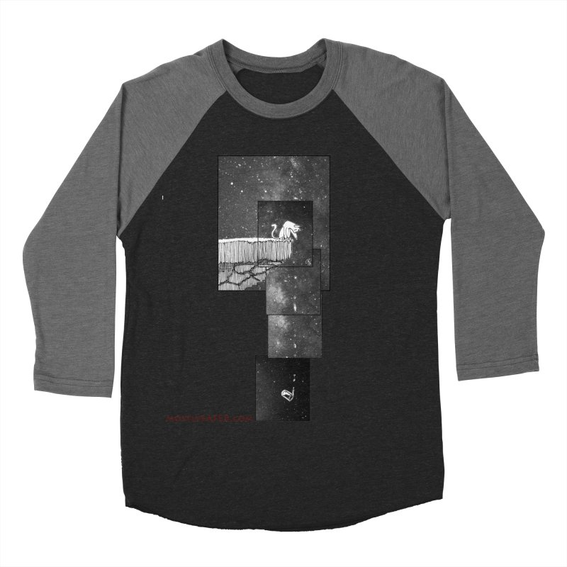 Flat Earth Cat Women's Baseball Triblend Longsleeve T-Shirt by MostlySAFE Webcomic Shwag