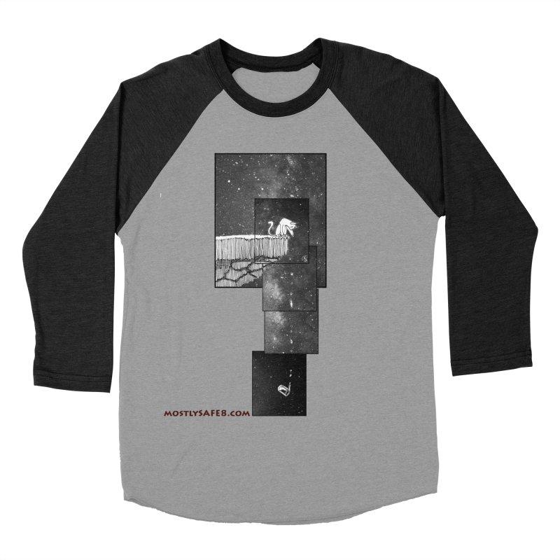 Flat Earth Cat Men's Baseball Triblend Longsleeve T-Shirt by MostlySAFE Webcomic Shwag