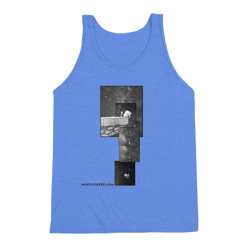 Flat Earth Cat Men's Triblend Tank by MostlySAFE Webcomic Shwag