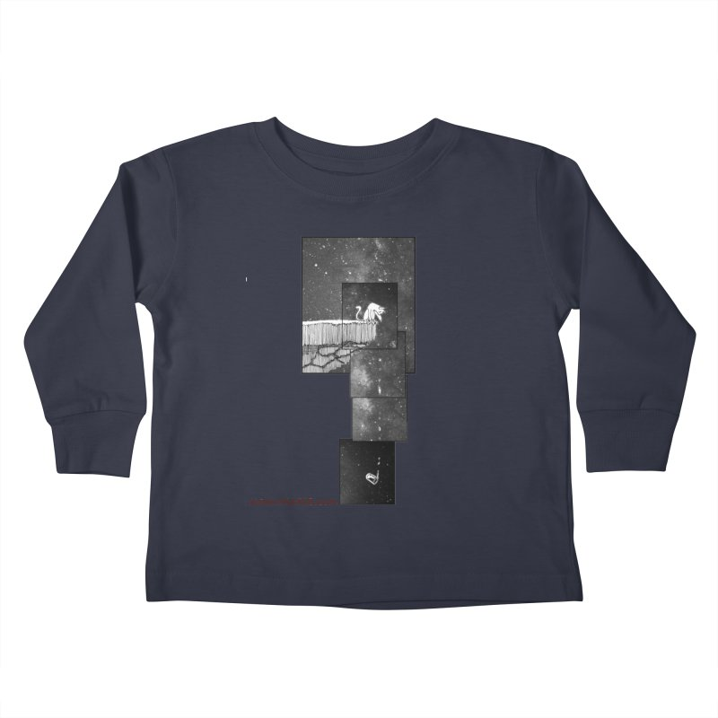 Flat Earth Cat Kids Toddler Longsleeve T-Shirt by MostlySAFE Webcomic Shwag