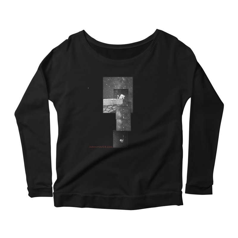 Flat Earth Cat Women's Scoop Neck Longsleeve T-Shirt by MostlySAFE Webcomic Shwag