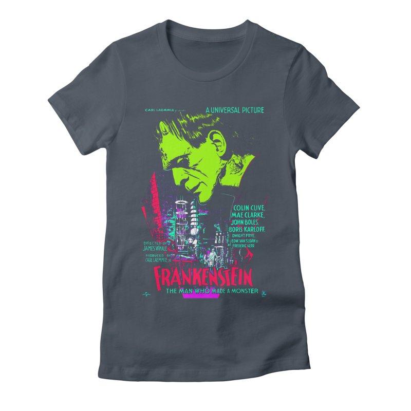 Frankenstein Monster Women's T-Shirt by mostro's Artist Shop