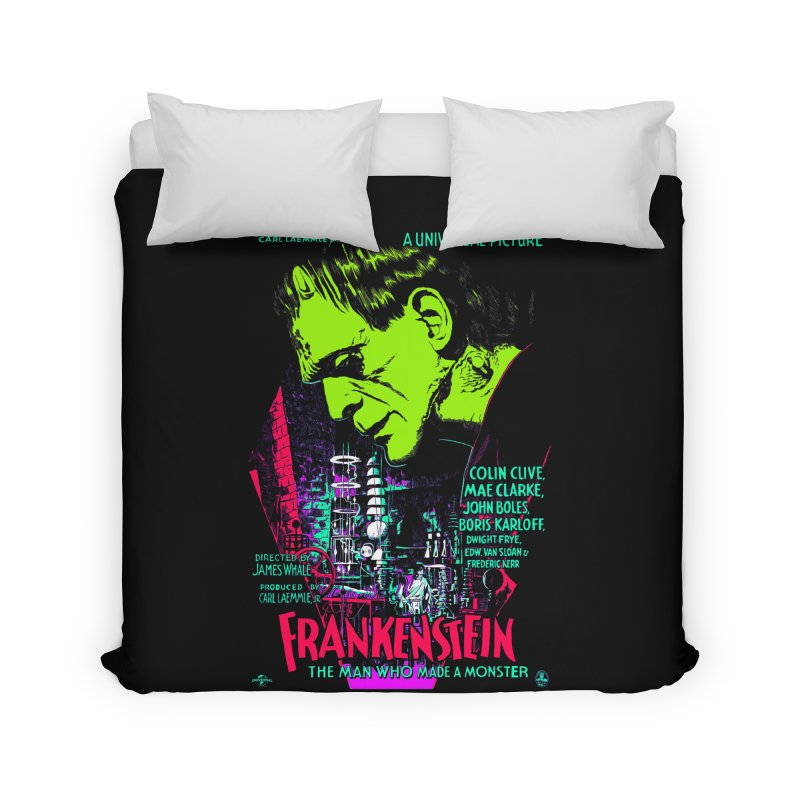 Frankenstein Monster Home Duvet by mostro's Artist Shop
