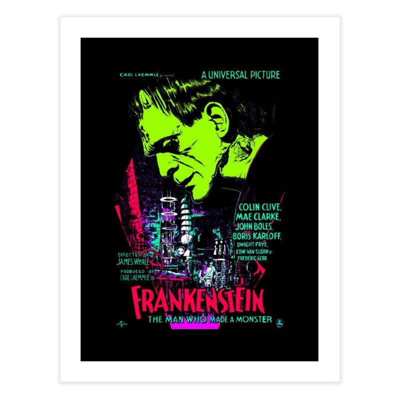 Frankenstein Monster Home Fine Art Print by mostro's Artist Shop