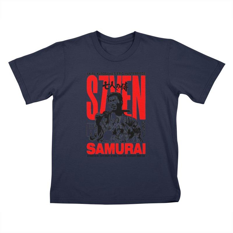 Seven Samurai Kids T-Shirt by mostro's Artist Shop