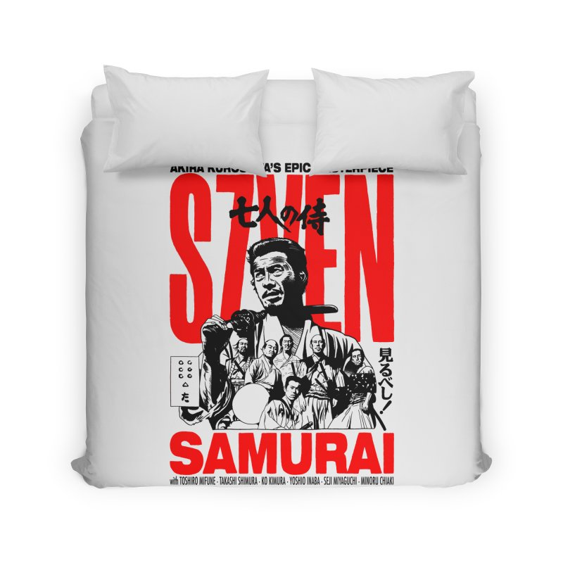 Seven Samurai Home Duvet by mostro's Artist Shop