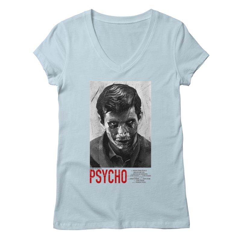 Psycho Women's V-Neck by mostro's Artist Shop