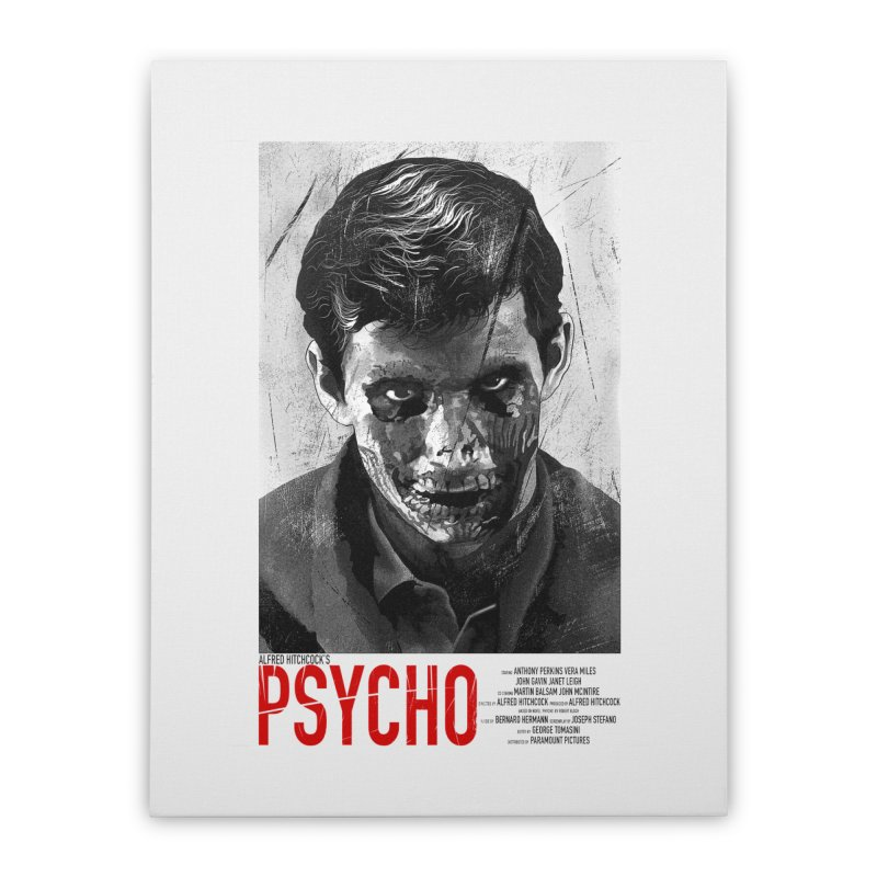 Psycho Home Stretched Canvas by mostro's Artist Shop