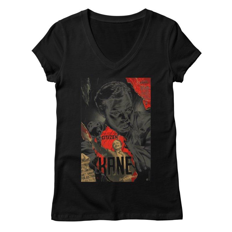 Citizen Kane Women's V-Neck by mostro's Artist Shop