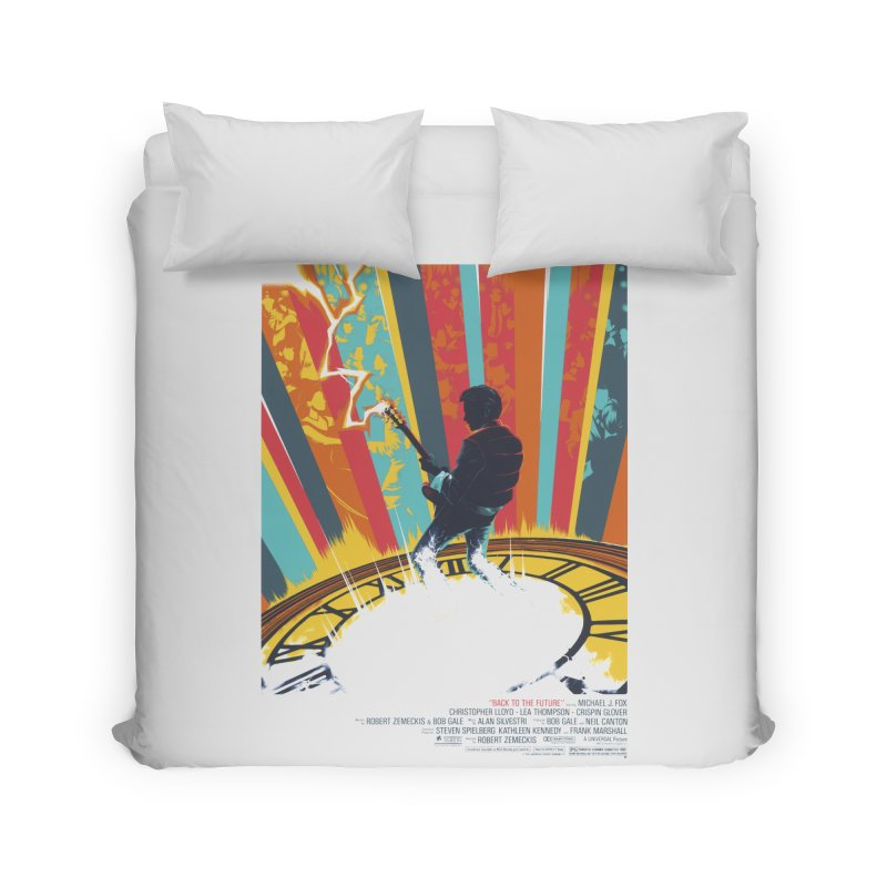 Marty McFly Guitar Hero Home Duvet by mostro's Artist Shop