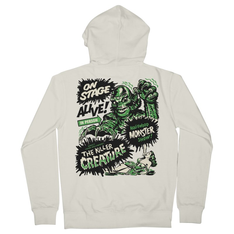 The Killer Creature Women's French Terry Zip-Up Hoody by mostro's Artist Shop