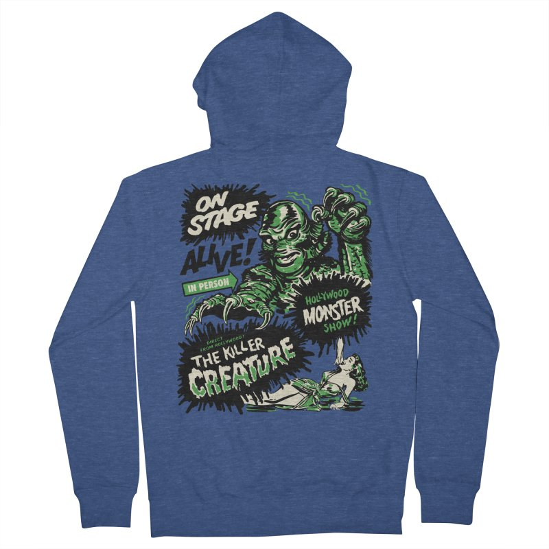 The Killer Creature Men's French Terry Zip-Up Hoody by mostro's Artist Shop