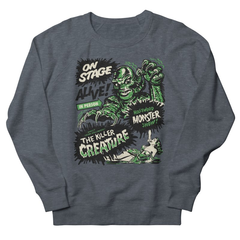 The Killer Creature Men's French Terry Sweatshirt by mostro's Artist Shop