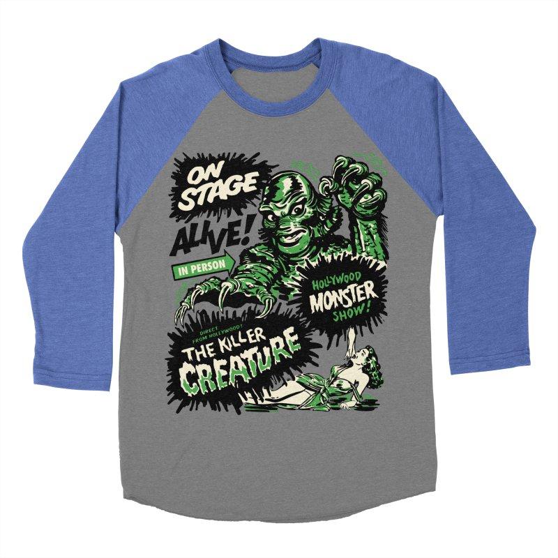 The Killer Creature Women's Baseball Triblend T-Shirt by mostro's Artist Shop