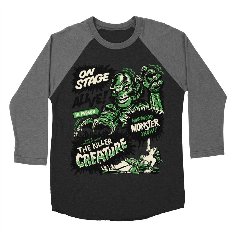 The Killer Creature Men's Baseball Triblend T-Shirt by mostro's Artist Shop
