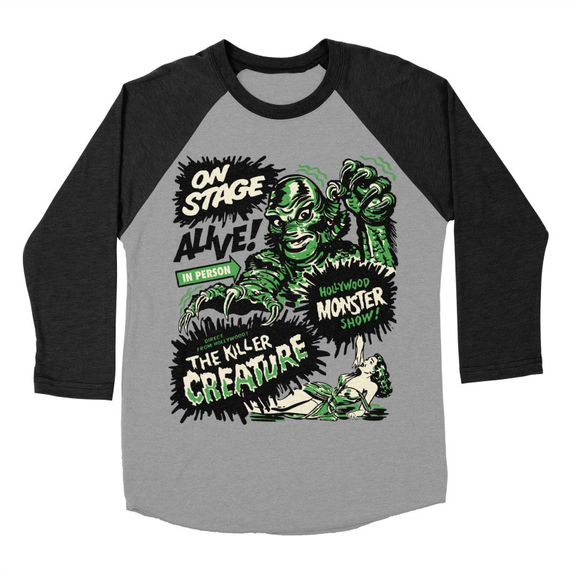 The Killer Creature Men's Baseball Triblend Longsleeve T-Shirt by mostro's Artist Shop