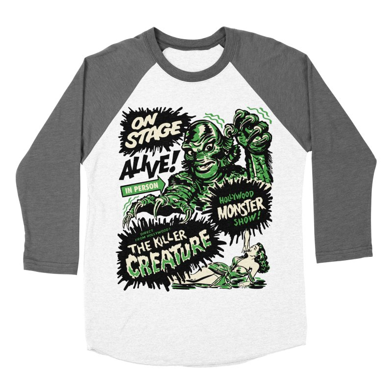 The Killer Creature Men's Baseball Triblend T-Shirt by mostro's Artist Shop