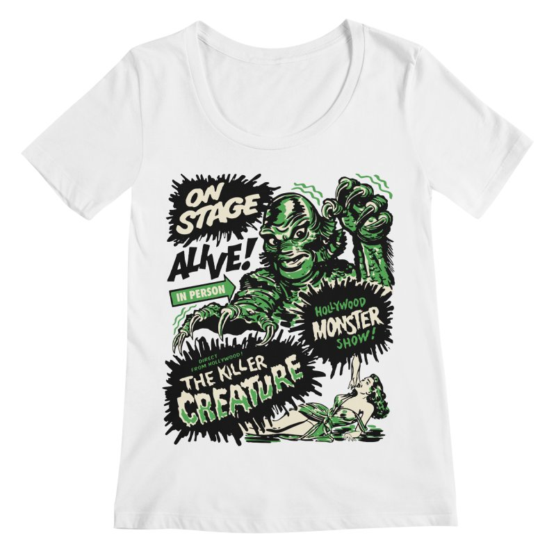 The Killer Creature Women's Regular Scoop Neck by mostro's Artist Shop
