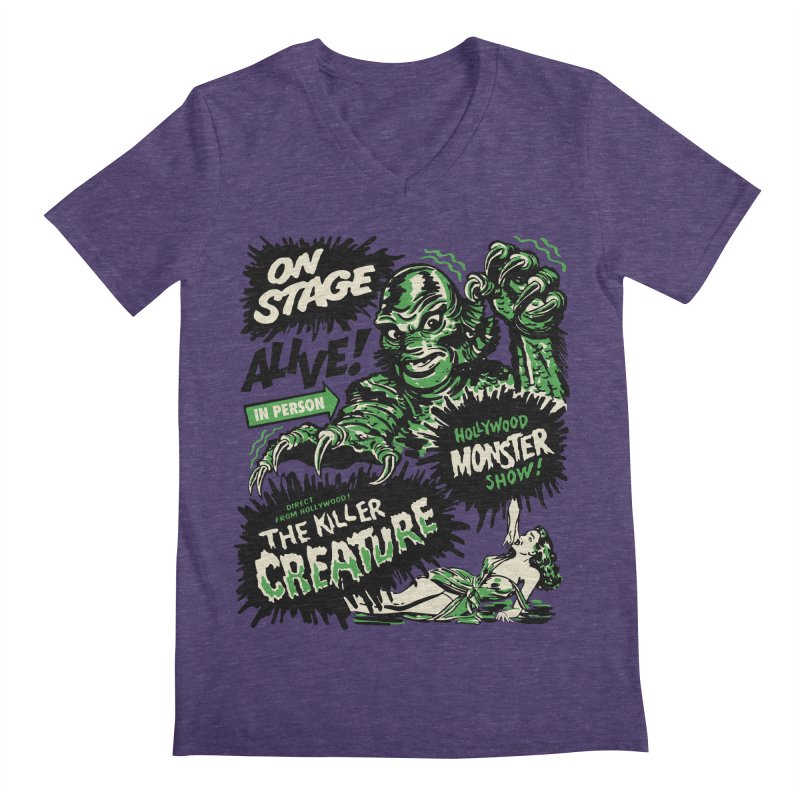The Killer Creature Men's Regular V-Neck by mostro's Artist Shop