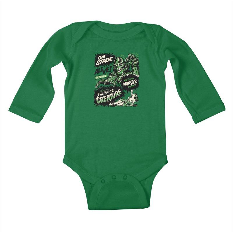The Killer Creature Kids Baby Longsleeve Bodysuit by mostro's Artist Shop