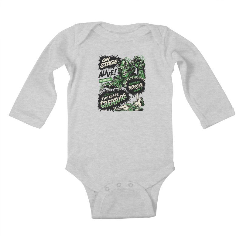 The Killer Creature Kids Baby Longsleeve Bodysuit by mostro's Artist Shop