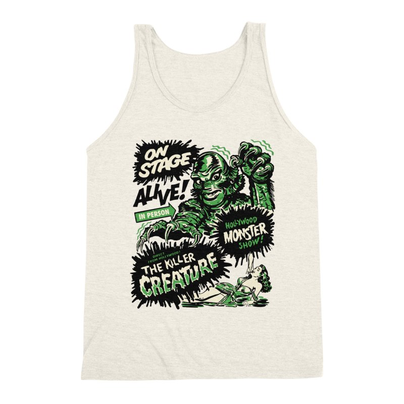 The Killer Creature Men's Triblend Tank by mostro's Artist Shop