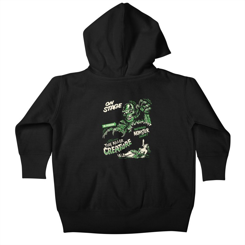 The Killer Creature Kids Baby Zip-Up Hoody by mostro's Artist Shop