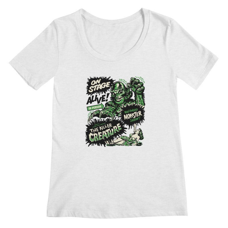 The Killer Creature Women's Scoop Neck by mostro's Artist Shop