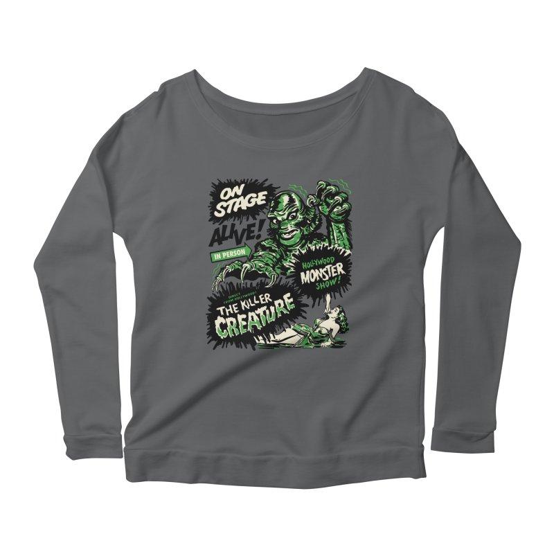 The Killer Creature Women's Scoop Neck Longsleeve T-Shirt by mostro's Artist Shop