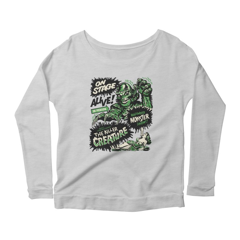 The Killer Creature Women's Scoop Neck Longsleeve T-Shirt by mostro's Artist Shop