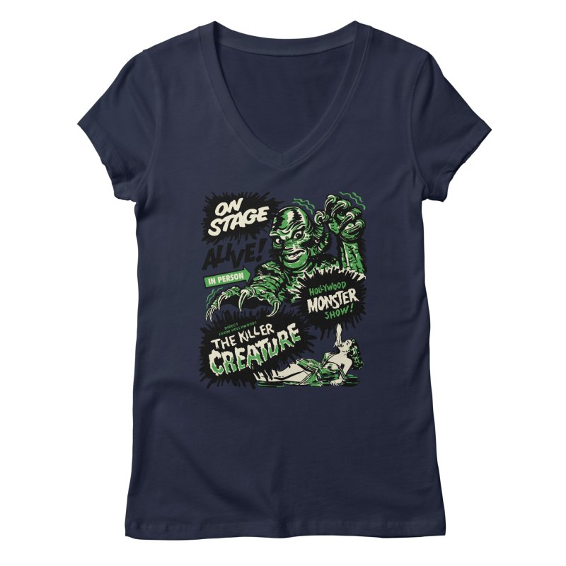 The Killer Creature Women's Regular V-Neck by mostro's Artist Shop