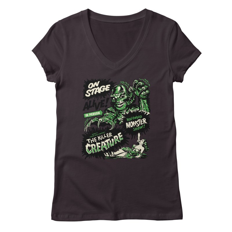 The Killer Creature Women's V-Neck by mostro's Artist Shop