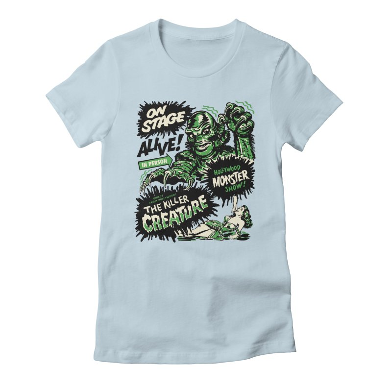 The Killer Creature Women's Fitted T-Shirt by mostro's Artist Shop